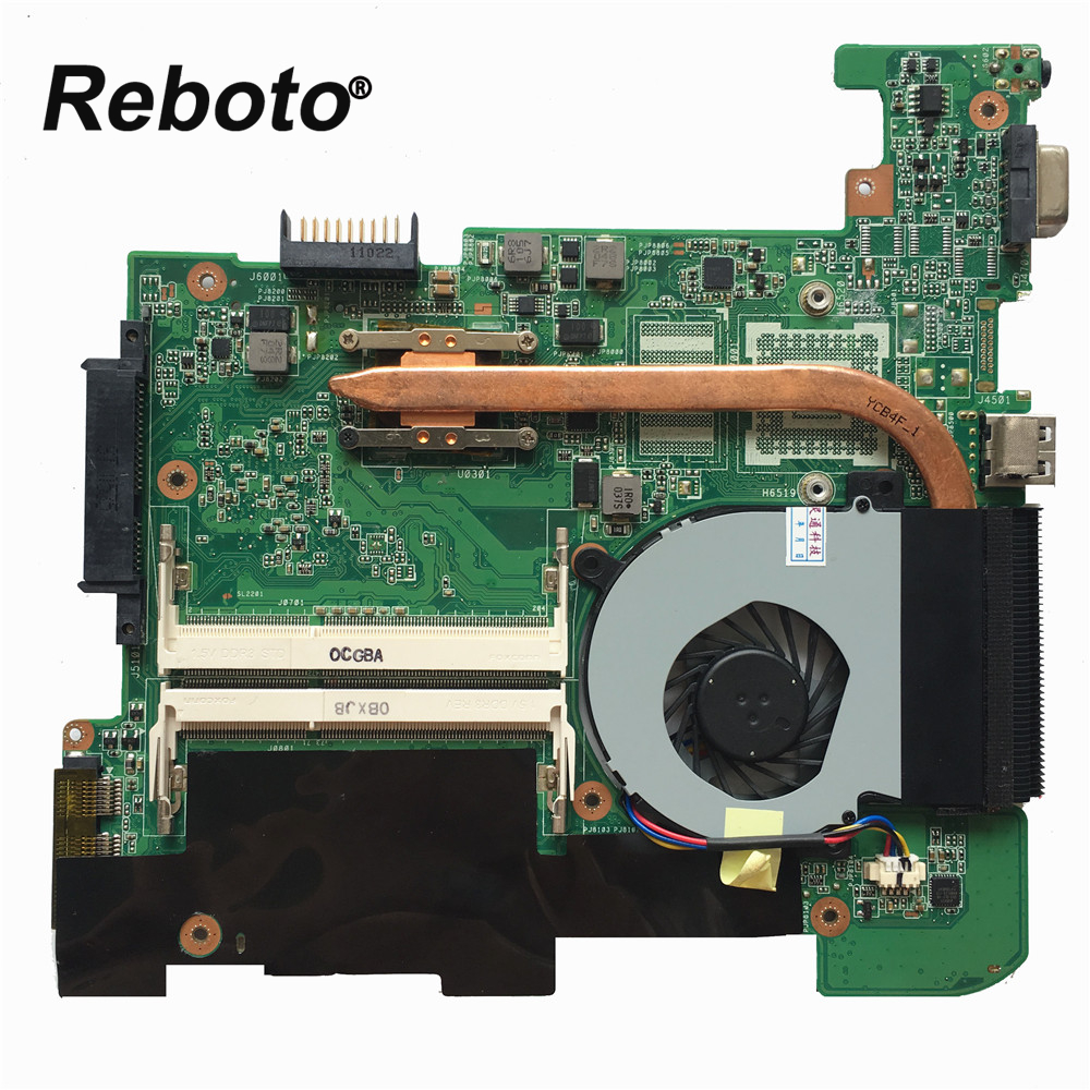 Reboto High quality For Asus 1215N VX6 Laptop motherboard mainboard REV 1 4 With Radiator fan