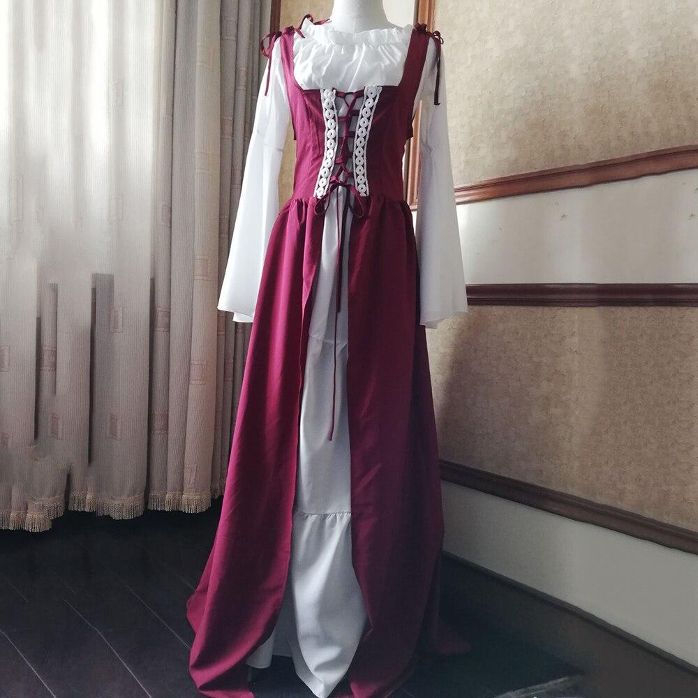 Rosétique robe pour femme Robes Verano 2019 Bandage Corset Médiévale Renaissance Vintage Robes Col Carré Party Club Élégant - 2