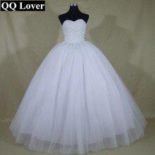 QQ Lover Shining Crystal Robe De Mariage Real Photo font b Wedding b font Dress font