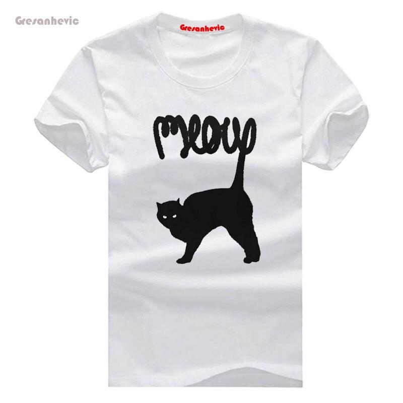 03223a6eb6358 Meow nueva moda hombres Camisetas algodón Camisetas Hombre Ropa al por mayor