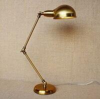 Регулируемый Лофт Стиль Винтаж Industrail LED Настольная лампа из металла простая настольная лампа для кафе кабинет бар свет Luminaria де меса