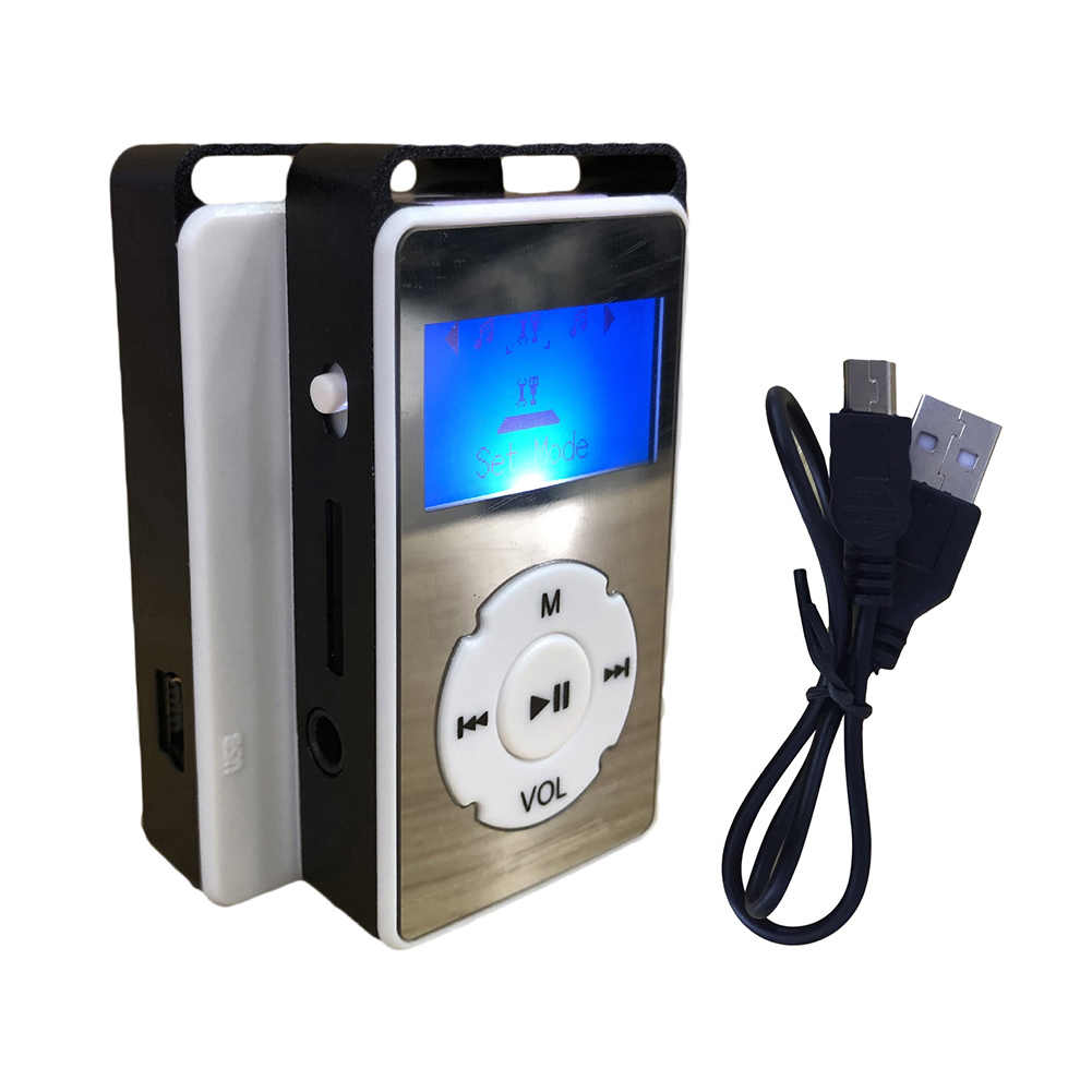 32GB TF مشبك صغير شاشة LCD MP3 الرياضة المحمولة مشغل موسيقى مع سماعات صغيرة كليب شاشة LCD