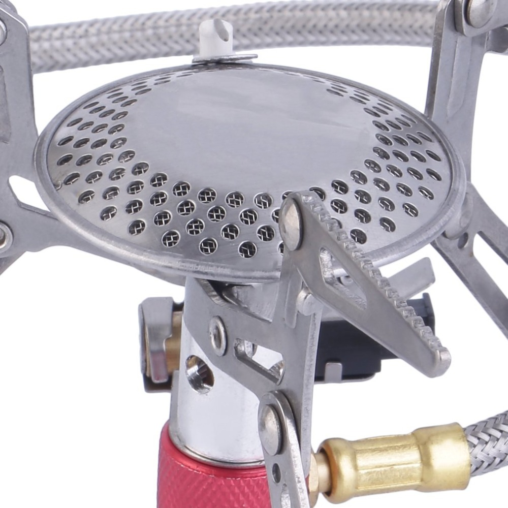 Image 5 - Stainless Steel Europe Japanese Dpower Handheld Portable Folding Camping Gas powered Stove with Piezo Ignition Promotion-in Outdoor Stoves from Sports & Entertainment