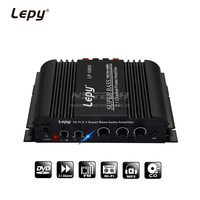 LP 168S Digital Stereo Power Amplifier Audio 2.1 Channel 2x 40W 68W RMS Output Super Bass Hi Fi USB Car Player LP 168HA Upgrade