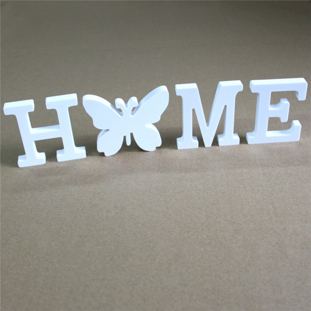 Creative Home Decor 8cm Wood Craft Wooden Letters Alphabet For Hotel Bar Shops Birthday Party Home Wedding Decorations gifts 2