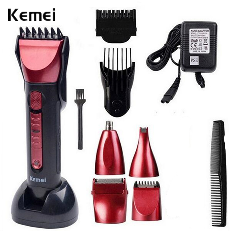 5 in 1 Men Trimmer Razor Hair Clipper Trimer Electric Shaver Beard Trimmer Nose Styling Tool Cutting Machine KM-8058 professional electric hair clipper razor child baby men electric shaver hair trimmer cutting machine haircut barber tool hot3637