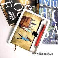 JIESMART thăng hoa quà tặng in ấn lưu niệm ví tính xách tay với pen