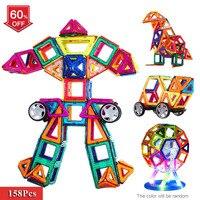 New Magnetic Blocks Toy For Children 158Pcs Plastic Building Blocks 3D Blocks Building Kits DIY Kids
