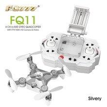 FQ777 fq11w 2.4 г 4ch 6-ось гироскопа WI-FI FPV-системы карманный мини беспилотный вращающийся RC Quadcopter с 0.3mp Камера f20804/5