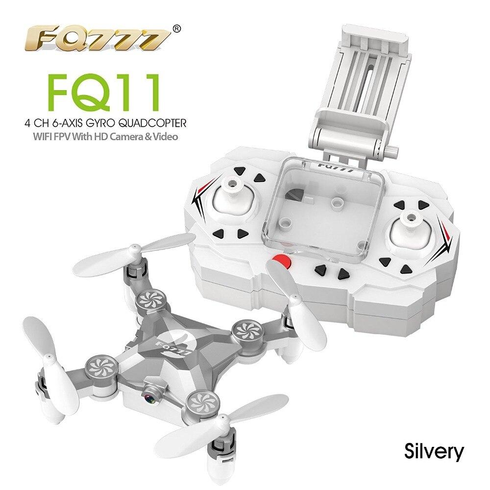 FQ777 FQ11W 2,4G 4CH 6-Axle Gyro WIFI FPV Mini Tasche Drone Drehbare RC Quadcopter Mit 0.3MP Kamera F20804/5