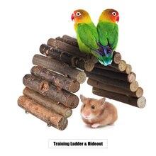8,6 дюймов, гибкий деревянный мост для хомяка, игрушечные лестницы, домик для маленьких животных, аксессуары для хомяка, мыши, грызунов, скалолазание, игрушки для домашних животных