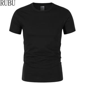 RUBU 2018 T shirt 100% cotton t-shirt men black tee shirt