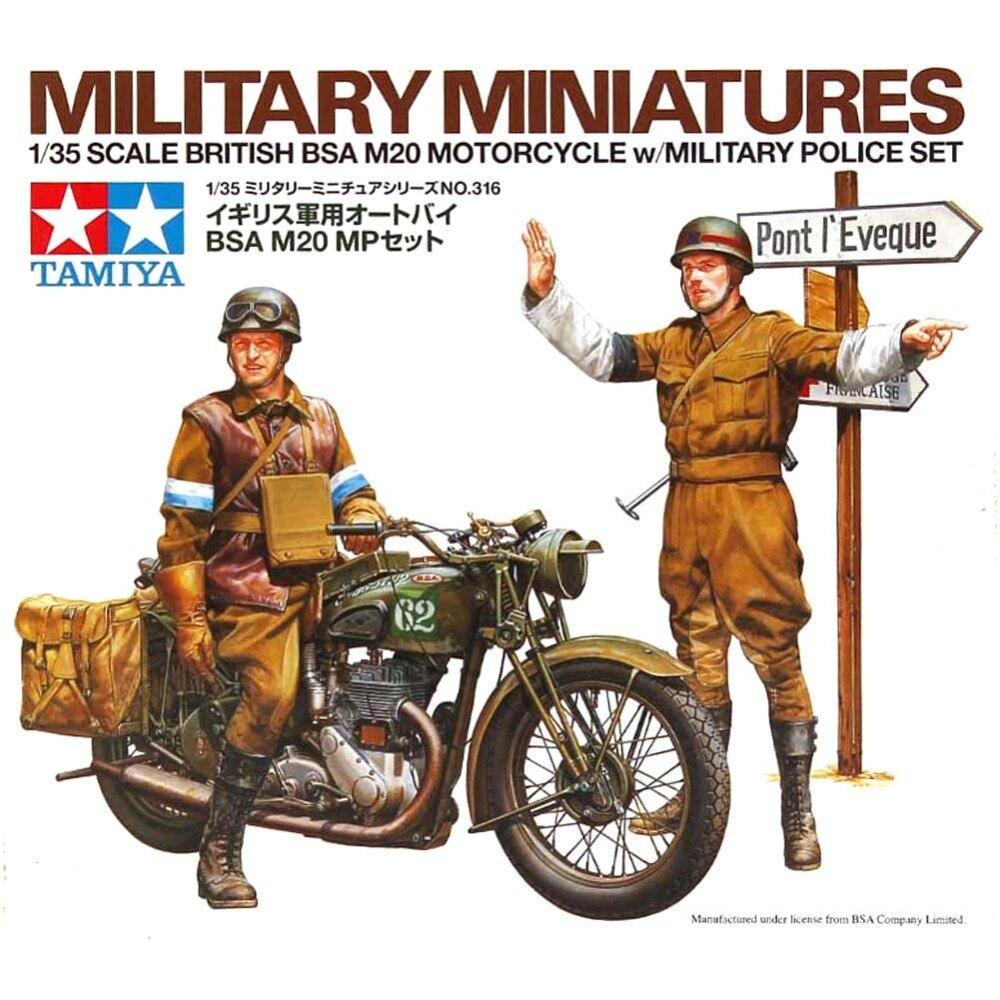 OHS Tamiya по супер скидке 35316 1/35 Британский BSA M20 мотоцикла w/Военные полицейский набор сборки Военная миниатюры модель здания Наборы