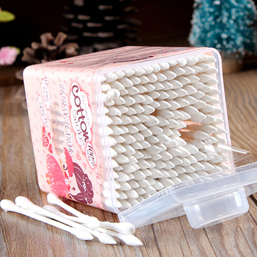 200Pcs Pointed Handy Cotton Swabs Women Health Make Up Q Tip Cotton Wabs Cosmetic Swabs Ear Clean