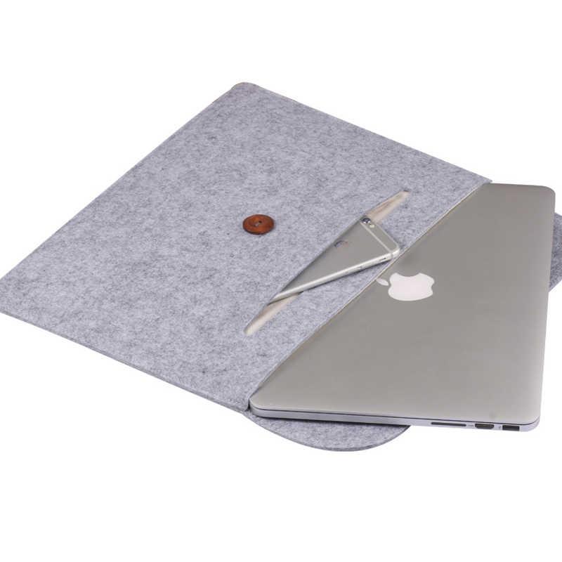 ホットユニセックスウールフェルトライナースリーブ 13.3 14 Xiaomi Macbook Air プロ 13 ケース網膜 11.6 12 15 男性女性のラップトップノートブックバッグ