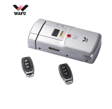 WAFU Keyless Entry Electronic Remote Indoor Touched Fingerprint Smart Door Lock Wireless 433mHZ Invisible Intelligent Lock wireless remote control electronic door lock invisible keyless entry door lock with 4 remote controllers security door lock