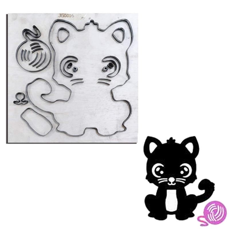 Hot Cat & fil balle bricolage en bois moule artisanat coupe Dies pour créer Scrapbooking Album gaufrage cartes de papier/feutre tissu poupées