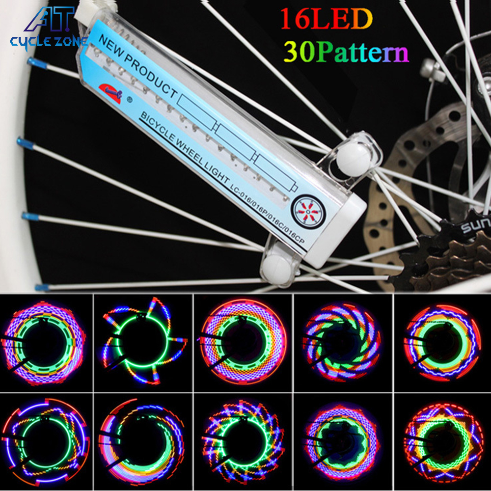 Fire Wheel Cycling Light 16 LEDX2 Sides Colour Bicycle Bike Wheel Spoke Light Bike Light Equipment Bicyle Accessories