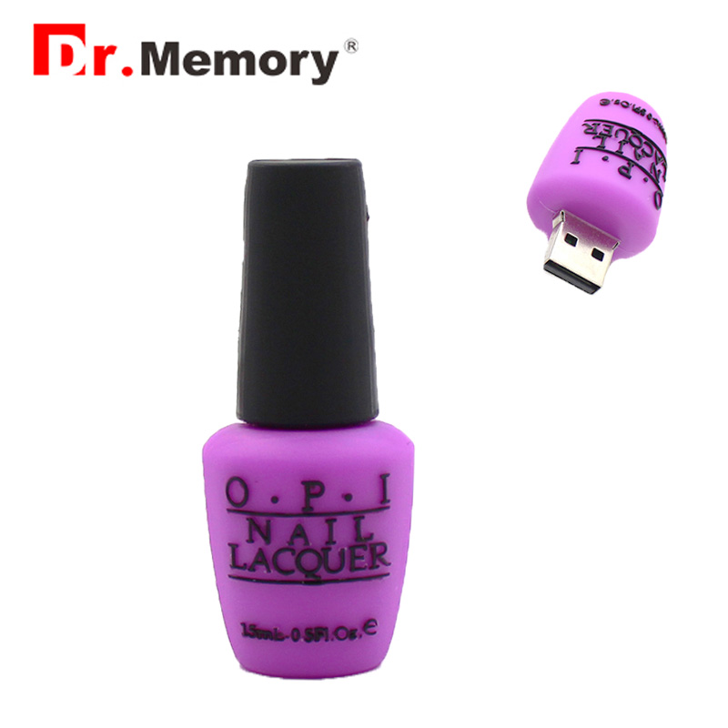 Lovely Nail Polish Bottle Usb Flash Drive 64GB Pen Drive 4GB 8GB 16GB 32GB Polish Bottle Memory Stick Elegant Usb Key Gift