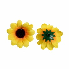 500pcs/lot  3Satin Sun Flowers Fabric Mesh For Photography Props Baby Hairband Accessory Kidocheese