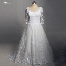 RSW1403 Yiaibridal Real Job Half Sleeves Wedding Dress