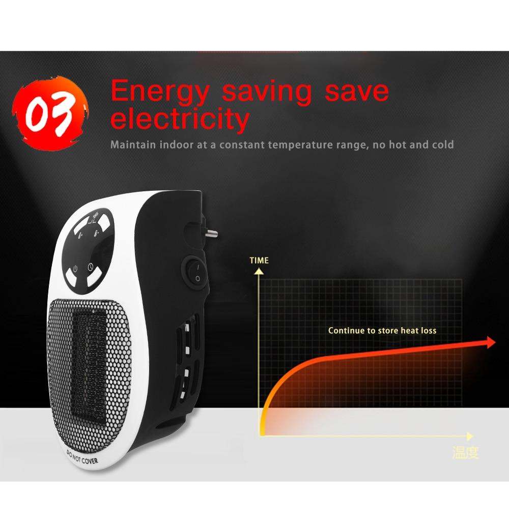 Mini ventilateur chauffage 220V 500W