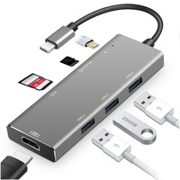 USB C Dock with Dex Mode for S8/S9/Note 8/Huawei mate 10/P20/Macbook Pro USB 3.0 Thunderbolt 3 USB Type c Hub Dongle HDMI