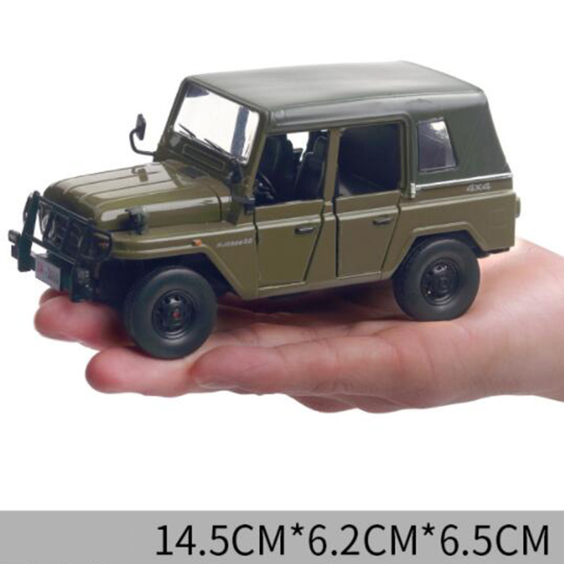 14.5CM 1:28 Scale Green Color Metal Alloy Jeep Car Off Road SUV Pull Back Diecasts Vehicles Model Toys For Children Kids image
