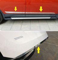 S. стали Задняя Крышка багажника + Боковая дверь литья хромированной отделкой для Toyota RAV4 2013 2014
