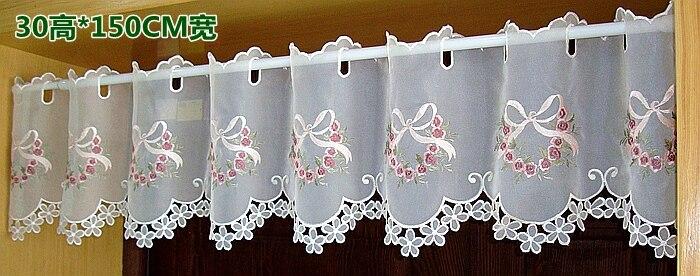 Media de la cortina cenefa bordada partición moda arco a 68 flor dobladillo de la cortina.jpg