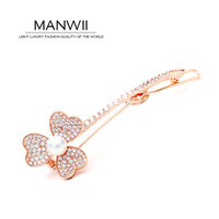 Insert AAA Zircon Nature Pearl Rose Gold Tiara For Women Hair Accessories Tiaras And Hair Stick