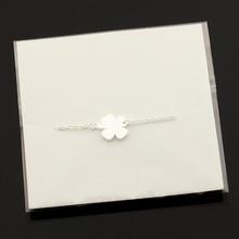 Stainless Steel Lucky Charm 4-Leaf Clover Bracelet