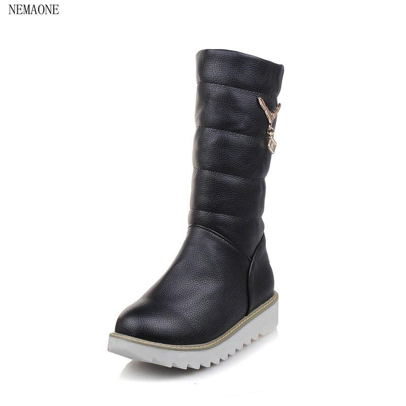 nemaone 2018 size 34 43 fashion boots plush warm