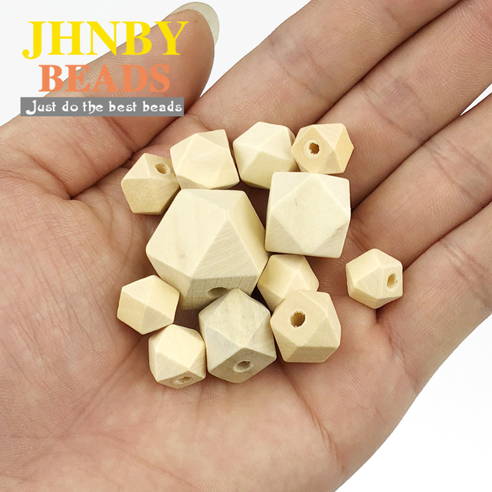 20pcs Untreated Wooden Beads Round 35mm Large Spacer Loose Beads Findings