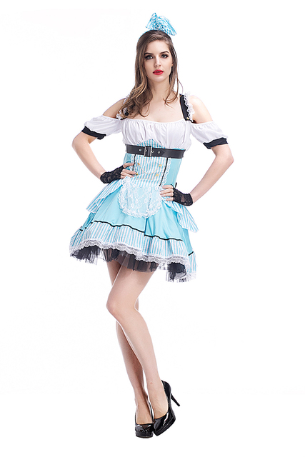 Adult Women Dorothy Princess Costume Sexy Cold Neck Cold Neck Dress Wizard of Oz Short Halter  sc 1 st  AliExpress.com & Adult Women Dorothy Princess Costume Sexy Cold Neck Cold Neck Dress ...
