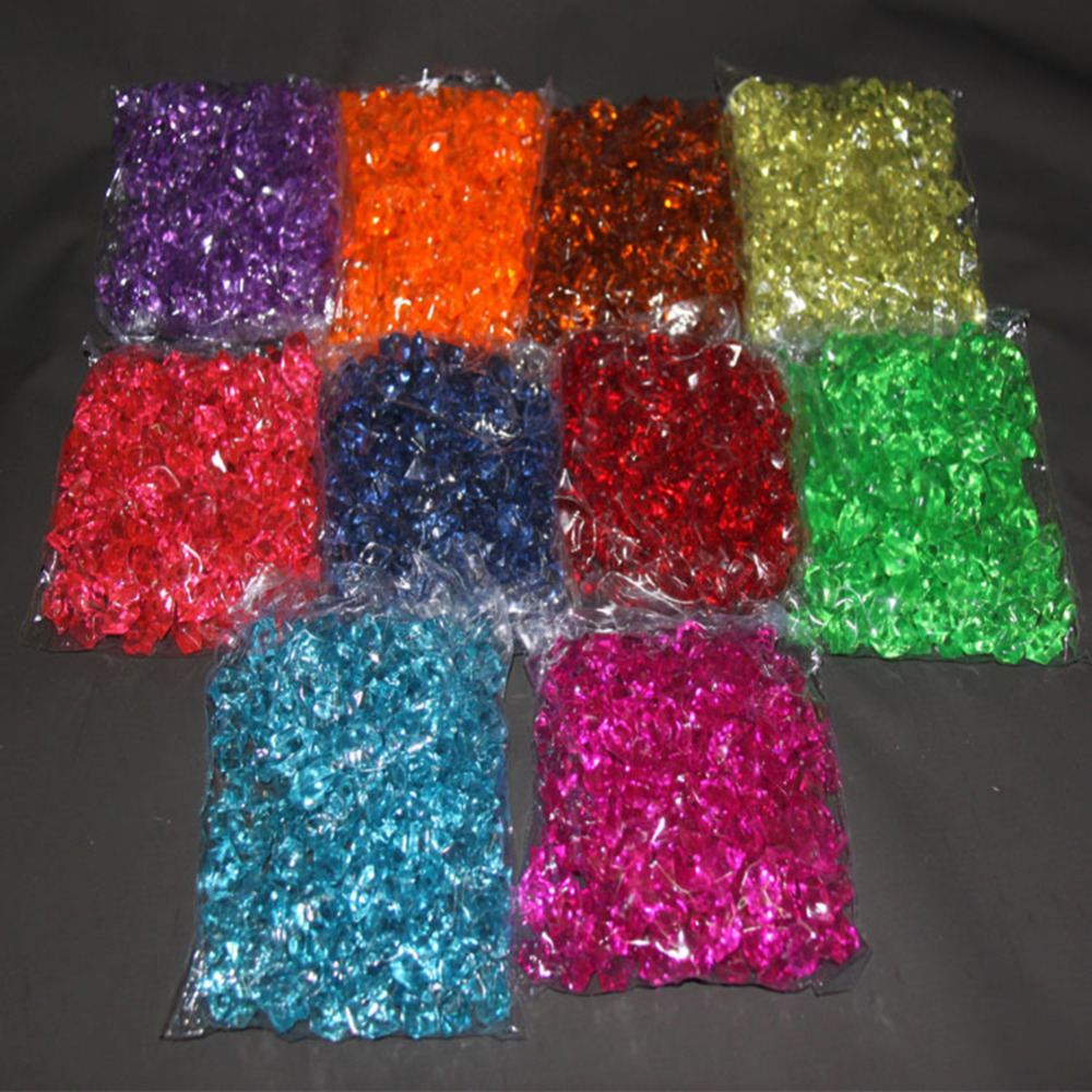 160 pcs / pack Acrylic Crystal Stone Color Stone Plastic Transparent ...