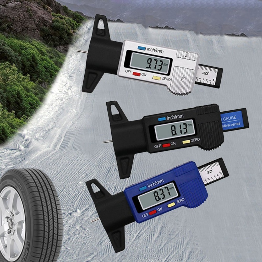 Safety Cones Sicherheit & Schutz Aufrichtig Digitale Auto Reifen Lauffläche Tiefe Tester 0-25mm Reifen Lauffläche Tiefe Gauge Meter Vermesser Werkzeug Sattel Lcd Display Reifen Messung