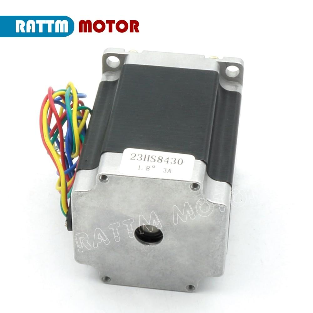 EU ship/free VAT 4PCS NEMA23 76mm/ 270Oz in/ 3A CNC stepper motor stepping motor for CNC Router/Engraving/Milling machine - 5
