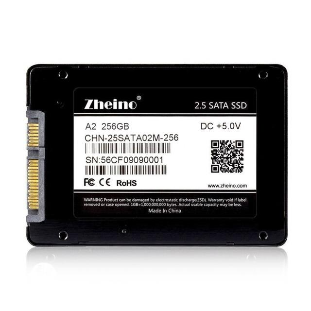 """Zheino a2 256 gb interna unidad de estado sólido de 2.5 """"MLC SATA3 (NO TLC) Disco Duro SSD Para El Ordenador Portátil de Escritorio SATA3 6 Gbps"""
