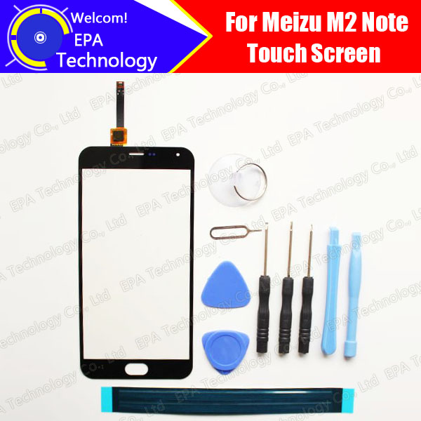 Meizu M2 Note Digitizer Touch Screen 100% Guarantee Original Glass Panel Touch Screen Digitizer For M2 Note +tools+ Adhesive