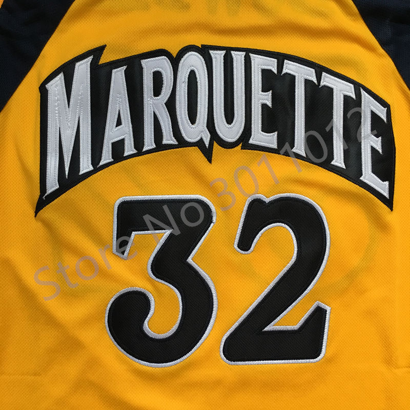 newest f2537 c4cf6 ... aliexpress buy vintage jae crowder 32 trrowback college marquette  golden eagles basketball jersey al