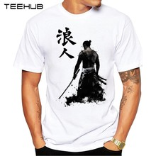 TEEHUB 2019 Summer Fashion Japan Armored Samurai Printed Casual T-Shirt Short Sleeve Popular Design T Shirt Hipster Cool Tops(China)