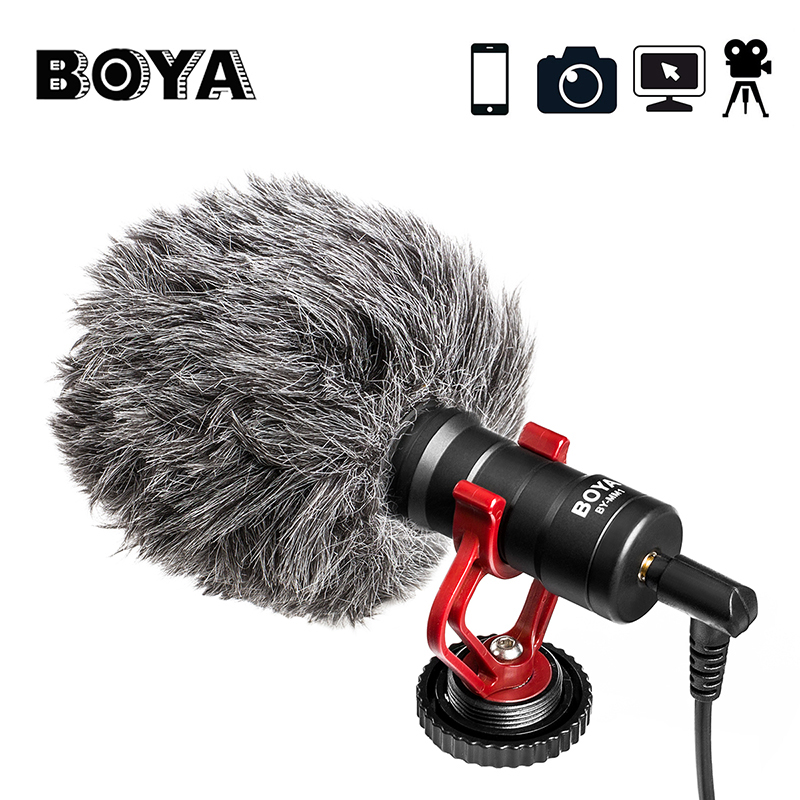 BOYA BY MM1 Video Record Micro Compact VS Rode VideoMicro On Camera Recording Mic for iPhone
