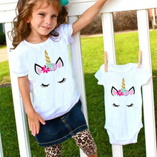 Little Brother Sisters Matching Eyelashes Unicorn Shirt Clothes