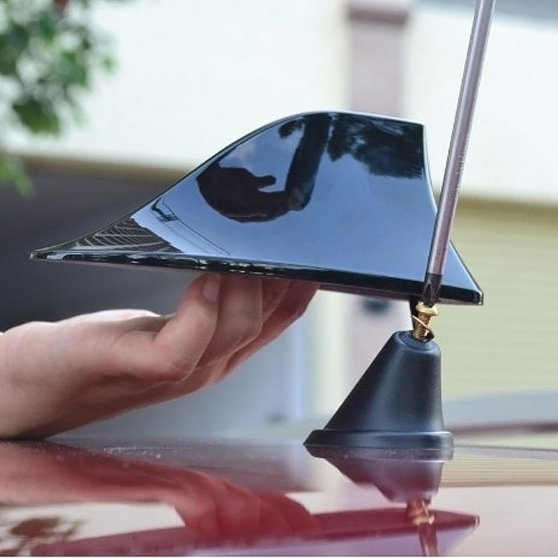 Водонепроницаемая автомобильная антенна плавник акулы плавник на крышу без сверления, радио антенна FM/AM для украшения антенны, более мощны...