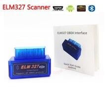 Leitor de código de carro ELM327 ISO Bluetooth OBD/OBD2 V2.1 Sem Fio ELM 327 scanner funciona em Android/XP/ WIN7 Sistema para acessórios do carro