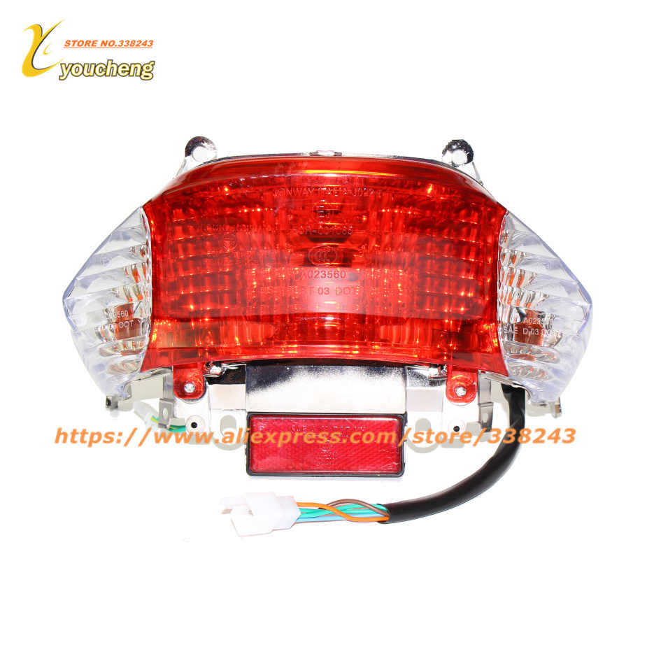 small resolution of scooter 50cc rear tail light turn signal lamp repair for gy6 chinese sunny special wd