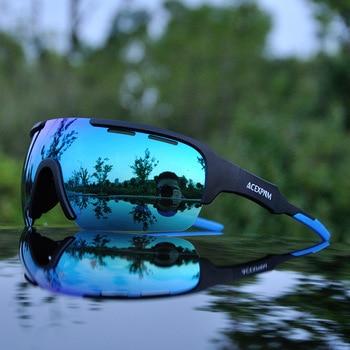 2019 esportes ao ar livre polarizado ciclismo óculos de ciclismo mountain bike óculos 4 lente ciclismo óculos uv400 ciclo 1