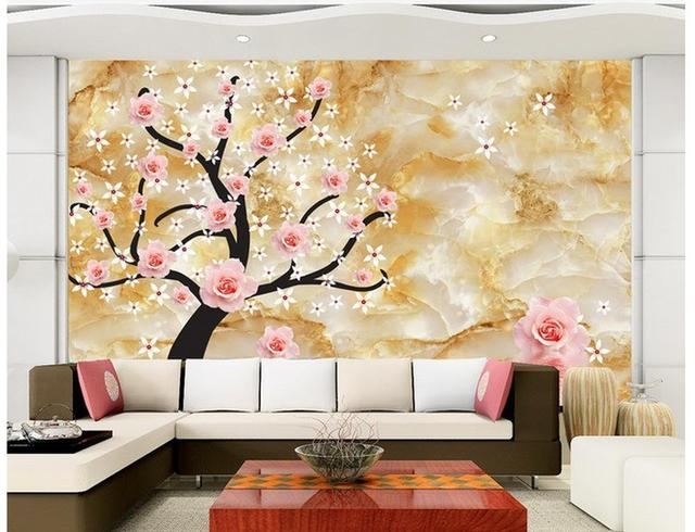 custom 3d photo wallpaper Flowers 3D TV background wall painting ...