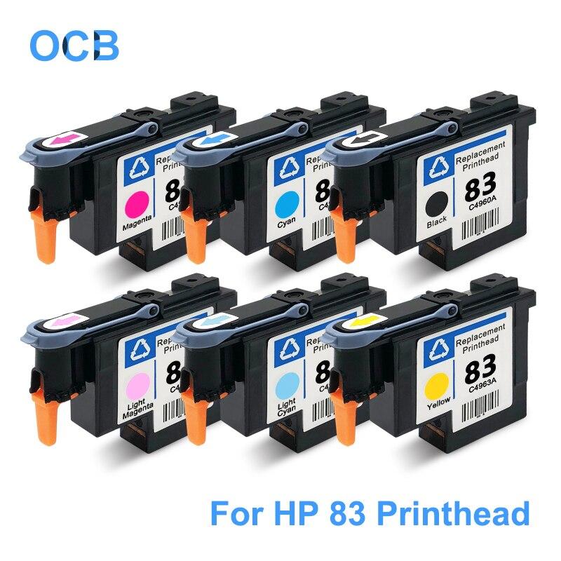 ل HP 83 رأس الطباعة C4960A C4961A C4962A C4963A C4964A C4965A طباعة رئيس ل طابعة تصميم إتش بي 5000 5000ps 5500 5500ps طابعة UV
